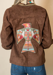 Embroidered Thunderbird Faux Suede Jacket | FINAL SALE, CLOTHING, andree by unit, BAD HABIT BOUTIQUE