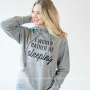 Rather Be Sleeping Hoodie -Dark Gray
