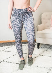 lite monochrome Camo Full leggings with straps