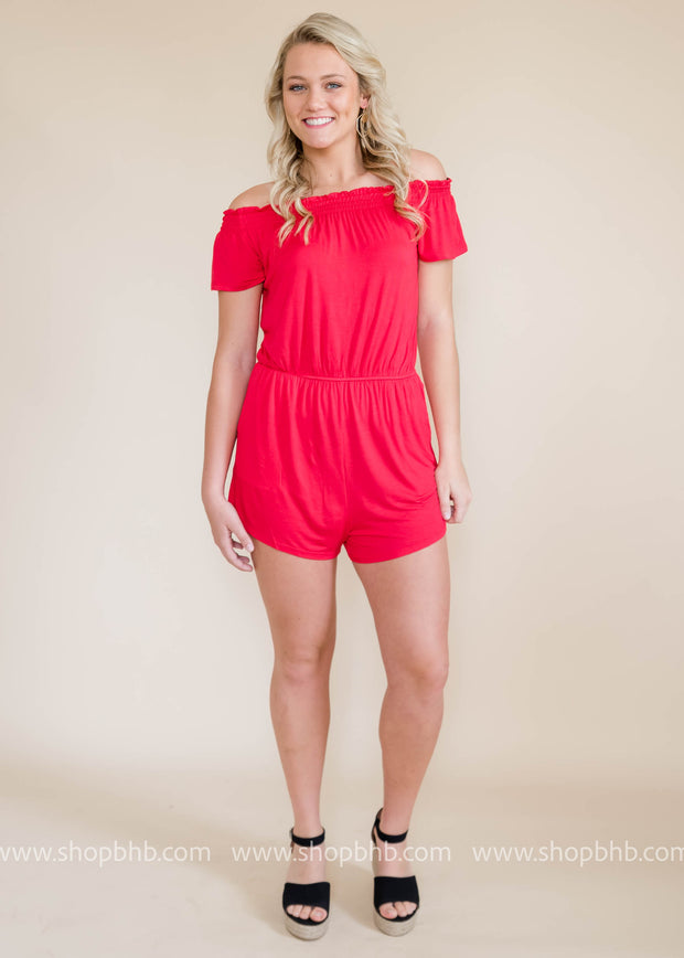 Off the Shoulder Romper - FINAL SALE