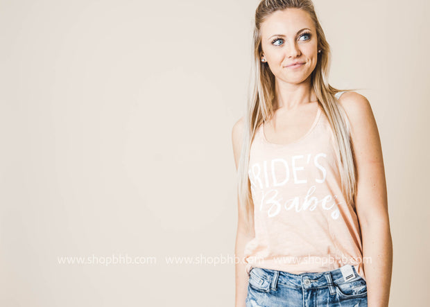 Bride's Babes Pink Tank Top, GRAPHICS, BAD HABIT BOUTIQUE , BAD HABIT BOUTIQUE