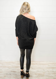 Feeling the Glitz & the Ritz- Metallic Knit Tunic Dress, HOLIDAY, Style Rack, badhabitboutique