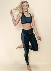 Highwaist Block Stripe Print Full Leggings | Black, ACTIVEWEAR, Mono B, badhabitboutique