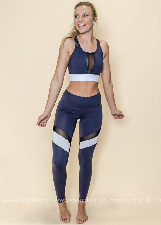 Colorblock Band Mesh Sports Bra | Violet, ACTIVEWEAR, Mono B, badhabitboutique
