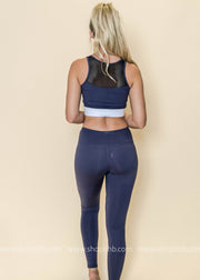 Colorblock Mesh Full Leggings | Violet, ACTIVEWEAR, Mono B, badhabitboutique
