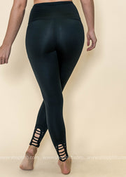 Highwaist Strap Calf Leggings | Black, ACTIVEWEAR, Mono B, badhabitboutique