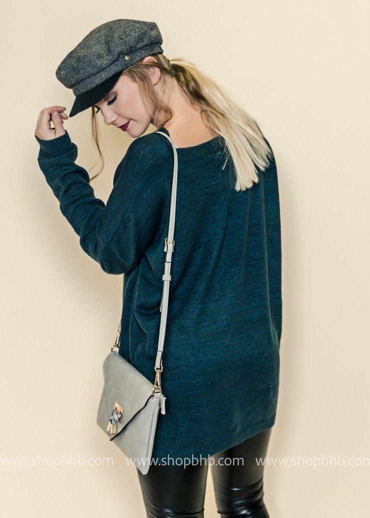 Newsboys Herringbone Hat, ACCESSORIES, Olive & Pique, BAD HABIT BOUTIQUE