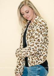 At The Scene Cheetah Short Jacket, Jacket, Ginger G, badhabitboutique