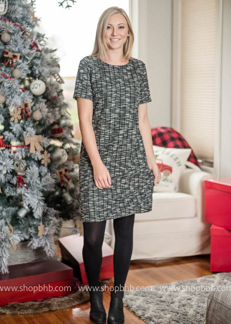 Totally Clueless Tweed Dress- FINAL SALE