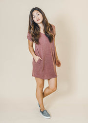 burgundy dress, dress, dresses, short sleeve dress