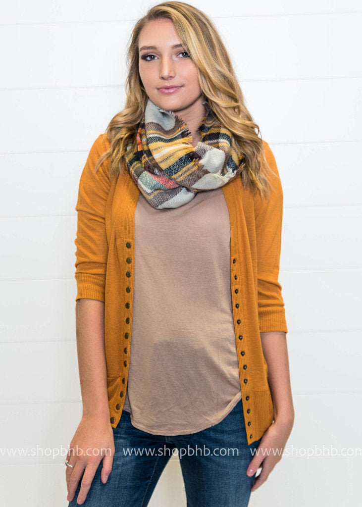 3/4 Sleeve Snap Cardigan - FINAL SALE, SALE, Zenana, BAD HABIT BOUTIQUE