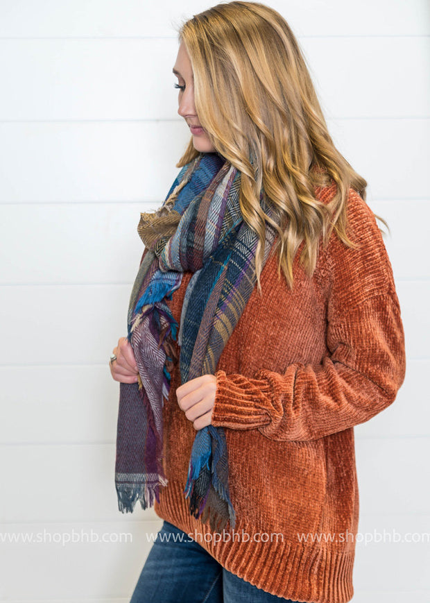 Plaid Blanket Scarf - FINAL SALE