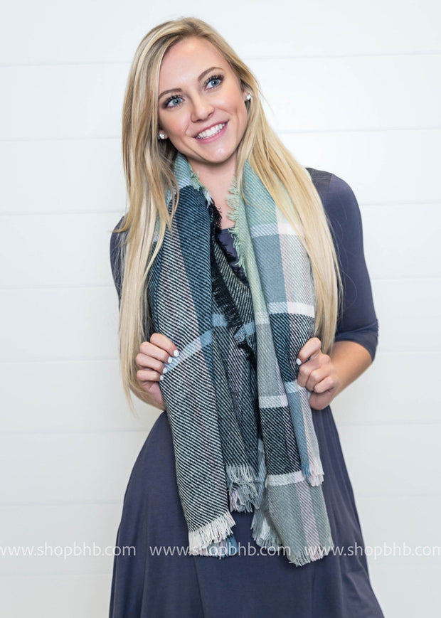 Easter Vibes Plaid Blanket Scarf - FINAL SALE, SALE, BAD HABIT BOUTIQUE , badhabitboutique