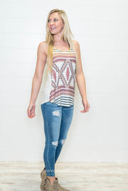 Aztec Tank-ivory, CLOTHING, Phil Love, badhabitboutique