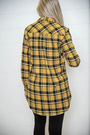 Check out the great length of this boyfriend plaid flannel!