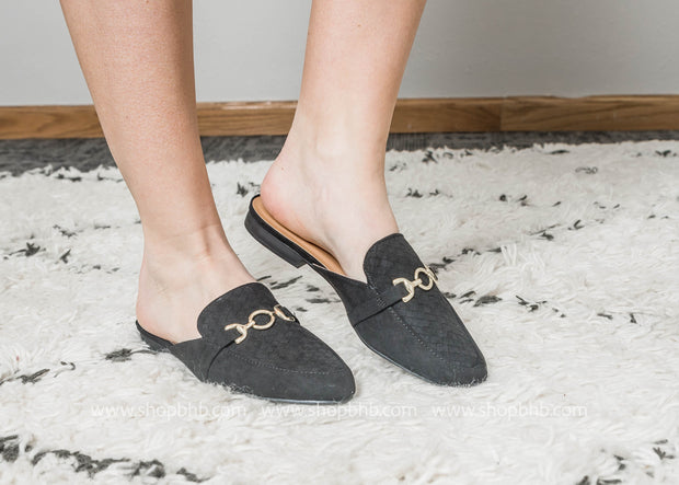 Black Slip on Loafer - Regent-75, , BAD HABIT BOUTIQUE , BAD HABIT BOUTIQUE