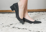 Simple Black Heel - Swing -04-FINAL SALE - BAD HABIT BOUTIQUE