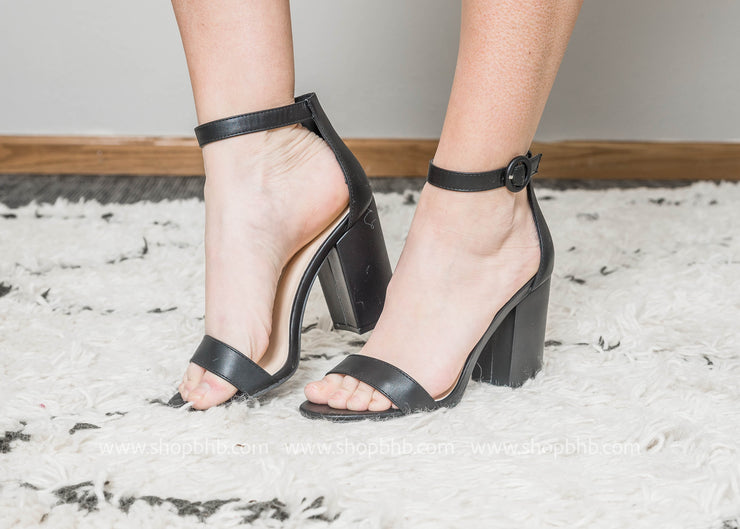Black Ankle Strap Heel  - Lake-01, SHOES, East Lion Corp, badhabitboutique