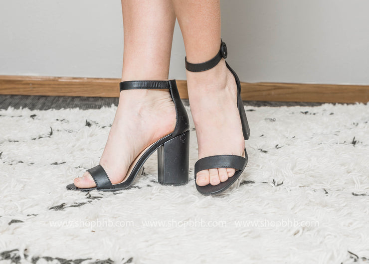 Black Ankle Strap Heel  - Lake-01, SHOES, East Lion Corp, BAD HABIT BOUTIQUE