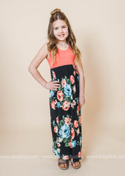 Sidekick Collection: Eden Roses Floral Kids Maxi Dress