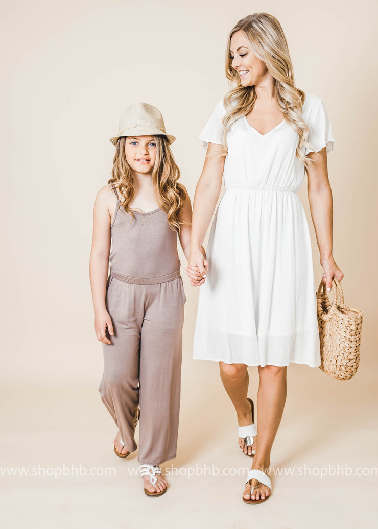 Sidekick Collection: April Showers Mocha Jumpsuit FINAL SALE