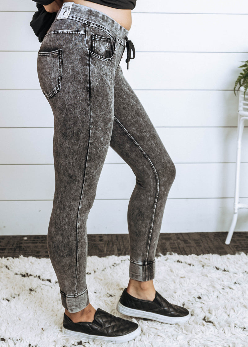 Jegging Joggers - Final Sale - BAD HABIT BOUTIQUE