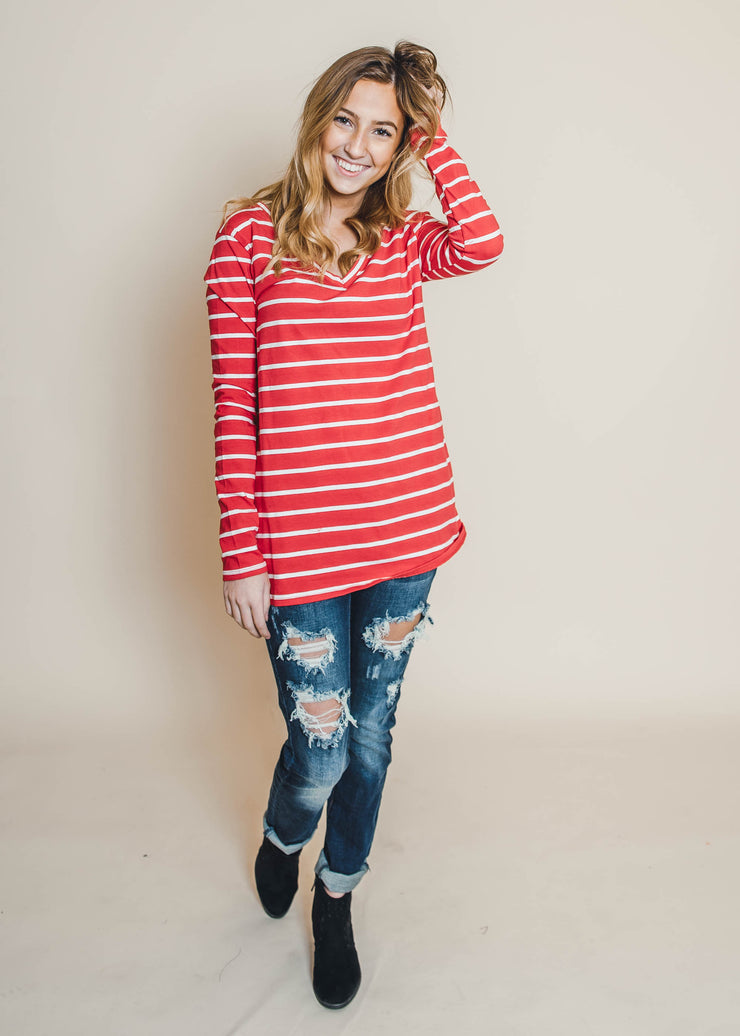 Beyond Basic Striped Long Sleeve Top | FINAL SALE, CLOTHING, Zenana, BAD HABIT BOUTIQUE