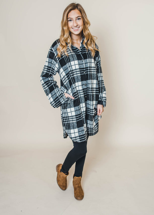 The Rebel Plaid Flannel Shirt Dress