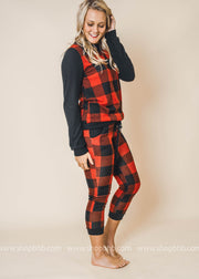 Red Buffalo Plaid Joggers