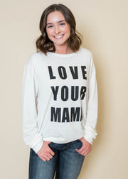 Love Your Mama Ivory Sweater