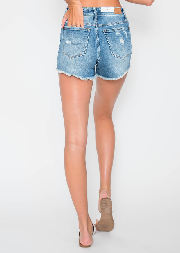 Destructed Cut- Off Shorts |  Judy Blue | FINAL SALE, CLOTHING, JUDY BLUE, BAD HABIT BOUTIQUE