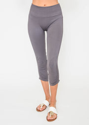 High Rise Workout Cinched Capri Leggings, CLOTHING, Yelete, BAD HABIT BOUTIQUE