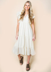 Delicate in Ruffles Midi Dress - Final Sale, CLOTHING, Polagram, BAD HABIT BOUTIQUE