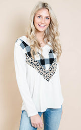 ivory chevron top