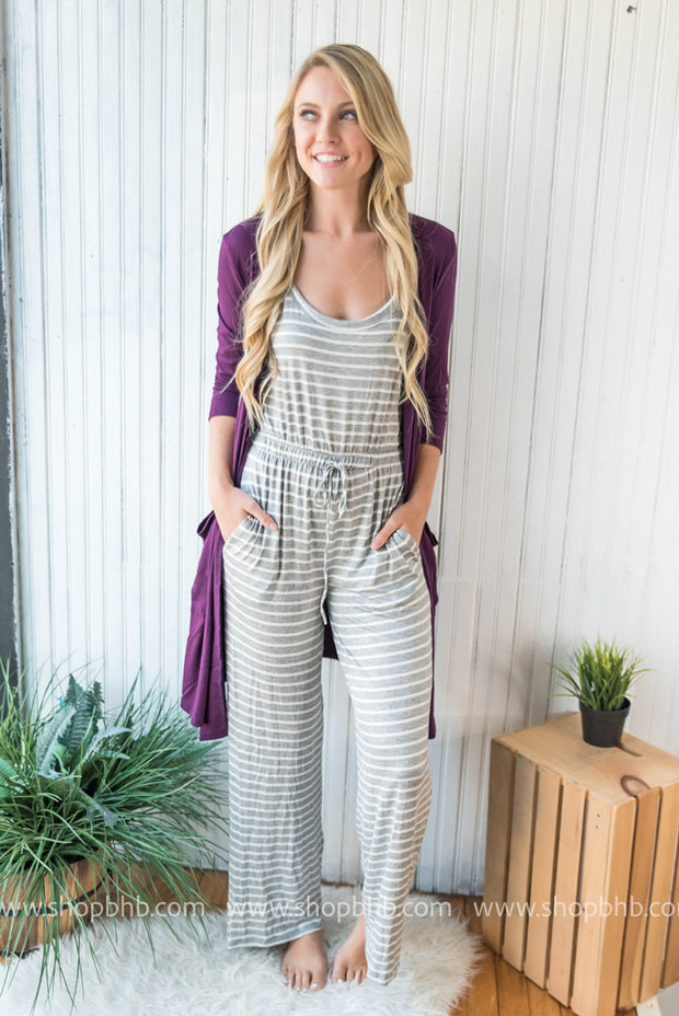 Our striped rompers are the perfect length for taller people