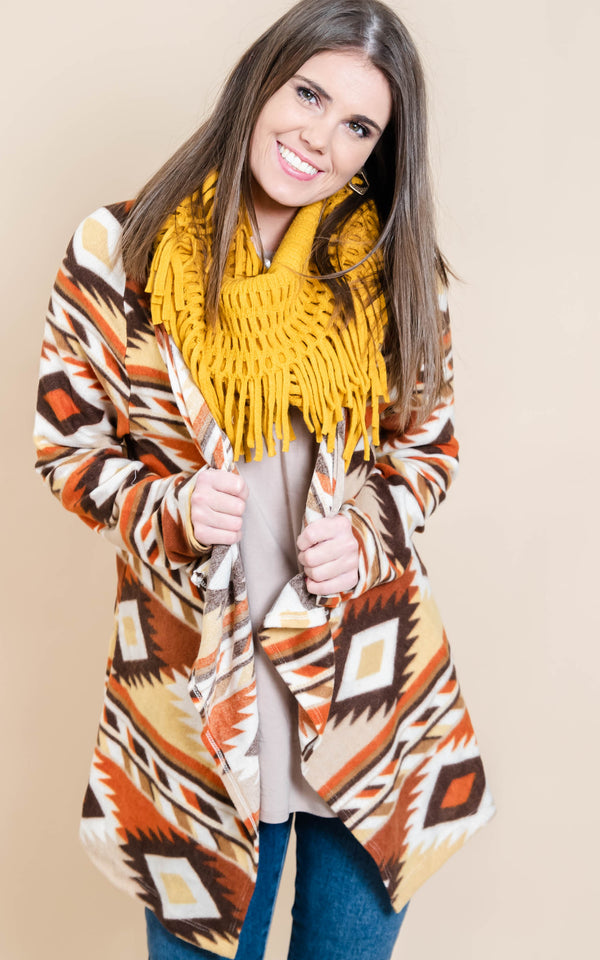 Aztec  Draped Cardigan | FINAL SALE, CLOTHING, Heimish, BAD HABIT BOUTIQUE