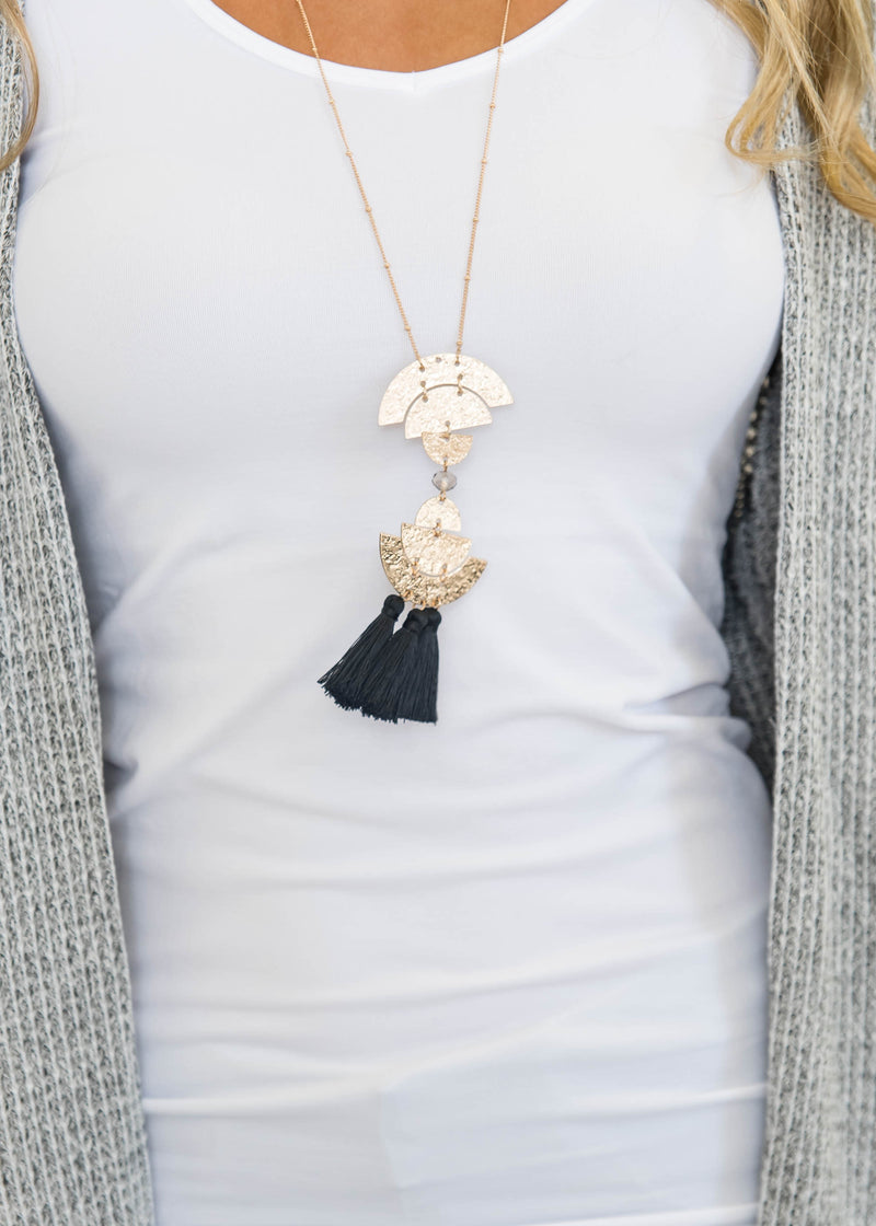 The Cleopatra Long Gold Necklace, JEWERLY, JOIA, BAD HABIT BOUTIQUE