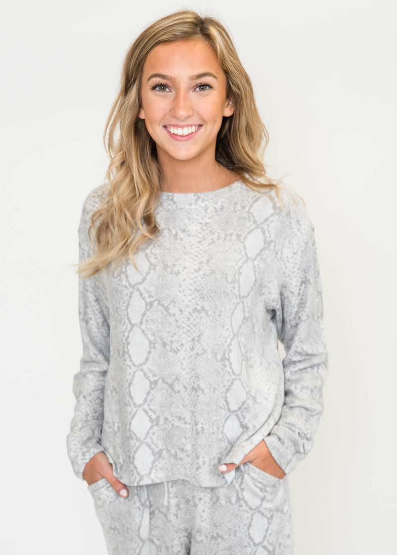 Long Sleeve Comfy Top, CLOTHING, FORNIA, BAD HABIT BOUTIQUE