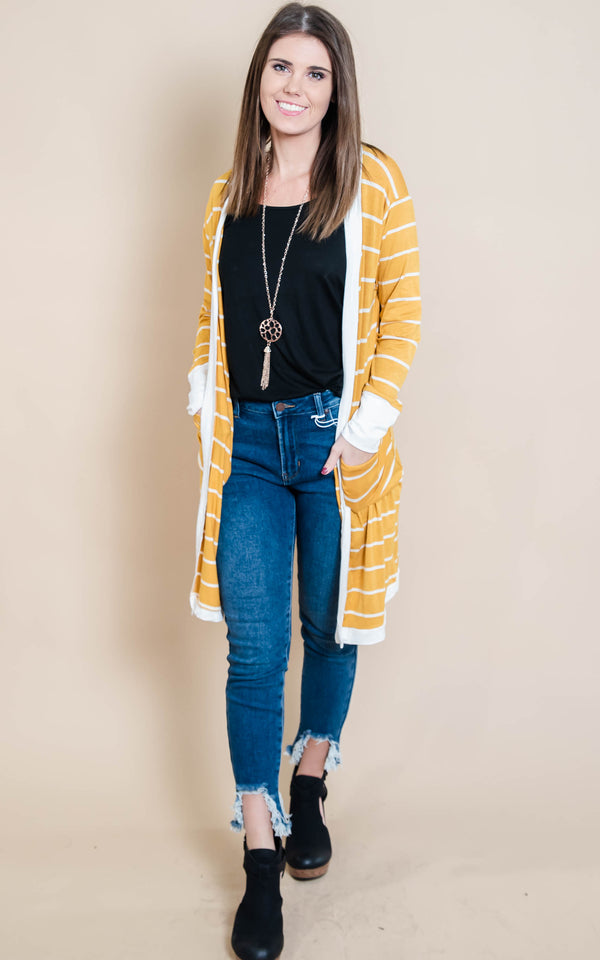 Stripe Duster Cardigan | FINAL SALE, CLOTHING, Heimish, BAD HABIT BOUTIQUE