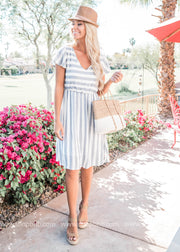 Set Sail Navy Striped Dress-FINAL SALE