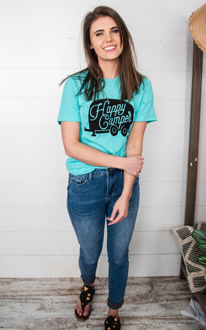 happy camper t-shirt for women