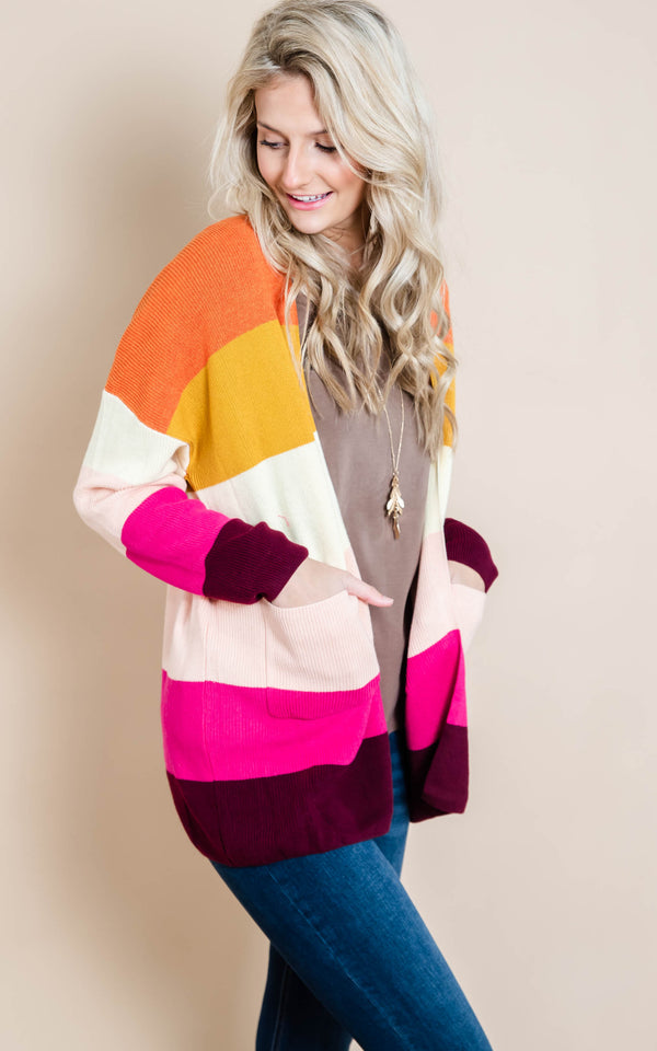 Rainbow Striped Knit Cardigan | FINAL SALE, CLOTHING, Heimish, BAD HABIT BOUTIQUE