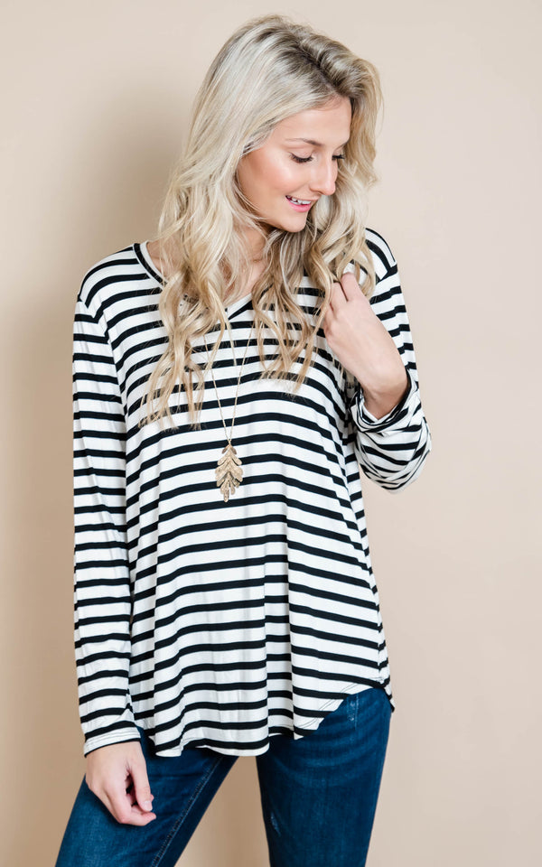 Just Me & My Stripes Top | FINAL SALE, CLOTHING, Heimish, BAD HABIT BOUTIQUE