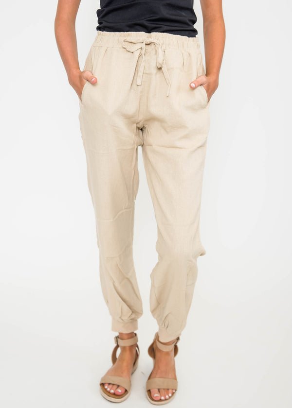 Linen Drawstring Pants | FINAL SALE, CLOTHING, LOVETREE, BAD HABIT BOUTIQUE