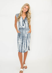 Tie Dye Surplice Dress - Final Sale, CLOTHING, HyFve, BAD HABIT BOUTIQUE