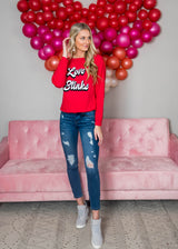 Love Stinks Long Sleeve Top - Final Sale, CLOTHING, BAD HABIT APPAREL, BAD HABIT BOUTIQUE