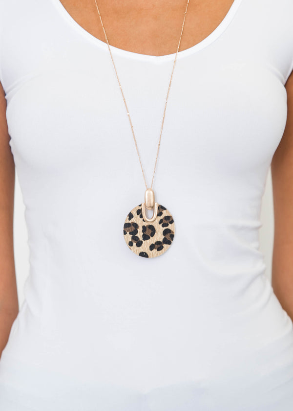 Wild Leopard Circle Necklace, JEWERLY, JOIA, BAD HABIT BOUTIQUE