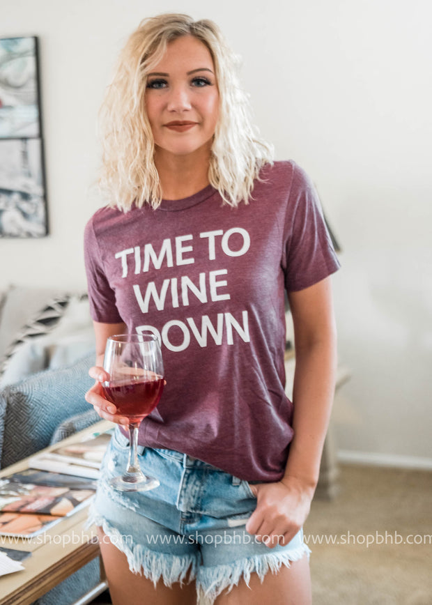TIME TO WINE TSHIRT, CLOTHING, BAD HABIT APPAREL, BAD HABIT BOUTIQUE