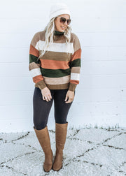 Cozy Crisp Fall Oversized Turtleneck Sweater