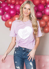 "Candy Heart ""Love Stinks"" T-shirt, CLOTHING, BAD HABIT APPAREL, BAD HABIT BOUTIQUE"